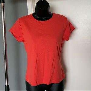 NWT Ann Taylor burnt orange open back short sleeve